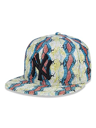 BONE 950 NEW YORK YANKEES MLB ABA RETA LARANJA AZUL AMARELO NEW ERA ... b591dc3c168