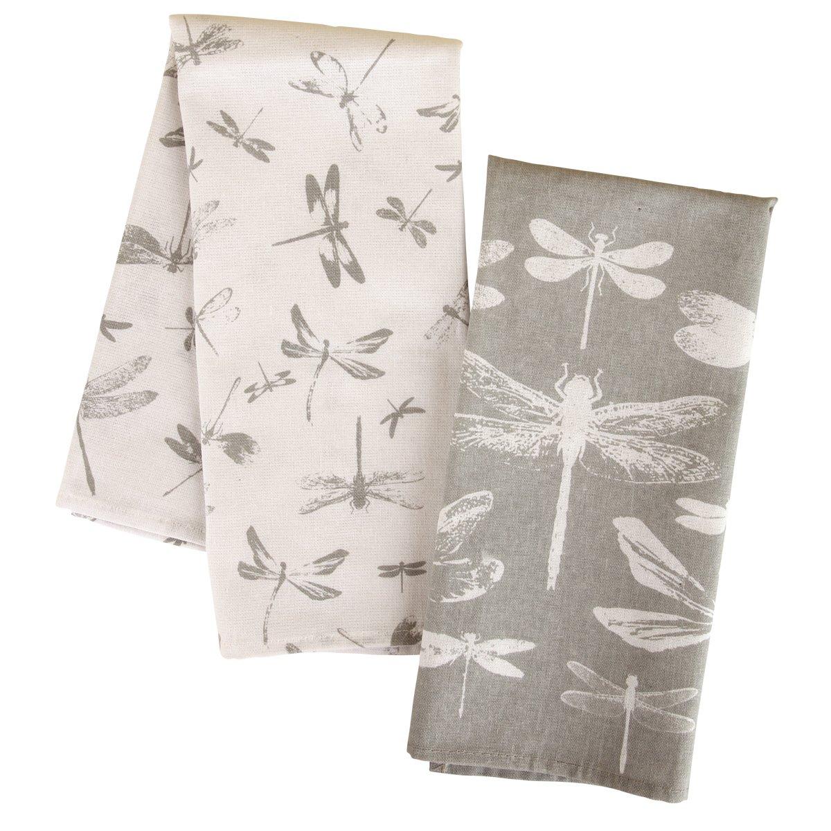 Karma Gifts Tea Towels (Set of 2), Dragonfly