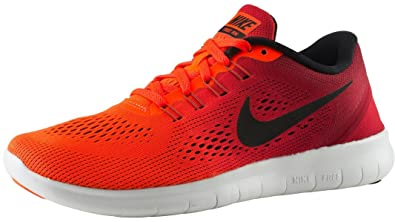 NIKE Womens Free RN Running Shoes Total Crimson/Black/Gym Red 831509-801