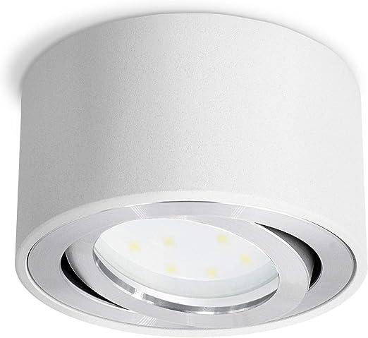 inkl weiß GX53 Leuchtmittel LED Deckenleuchte//Aufbaustrahler warmweiß