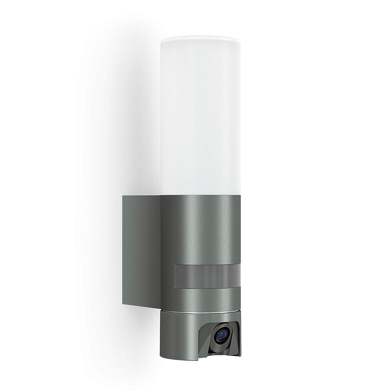 Steinel Cam Light Camera Light: Outdoor Light, Intercom, Security Camera, Infrared Motion Detector, Aluminium, 14.3 W, Anthracite [Energy Class A++] ...