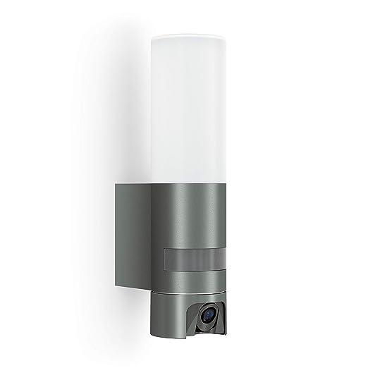 Steinel - Cámara con luz: lámpara de exterior, interfono, cámara de vigilancia, detector de movimiento por infrarrojos, aluminio, 14.3 W, antracita