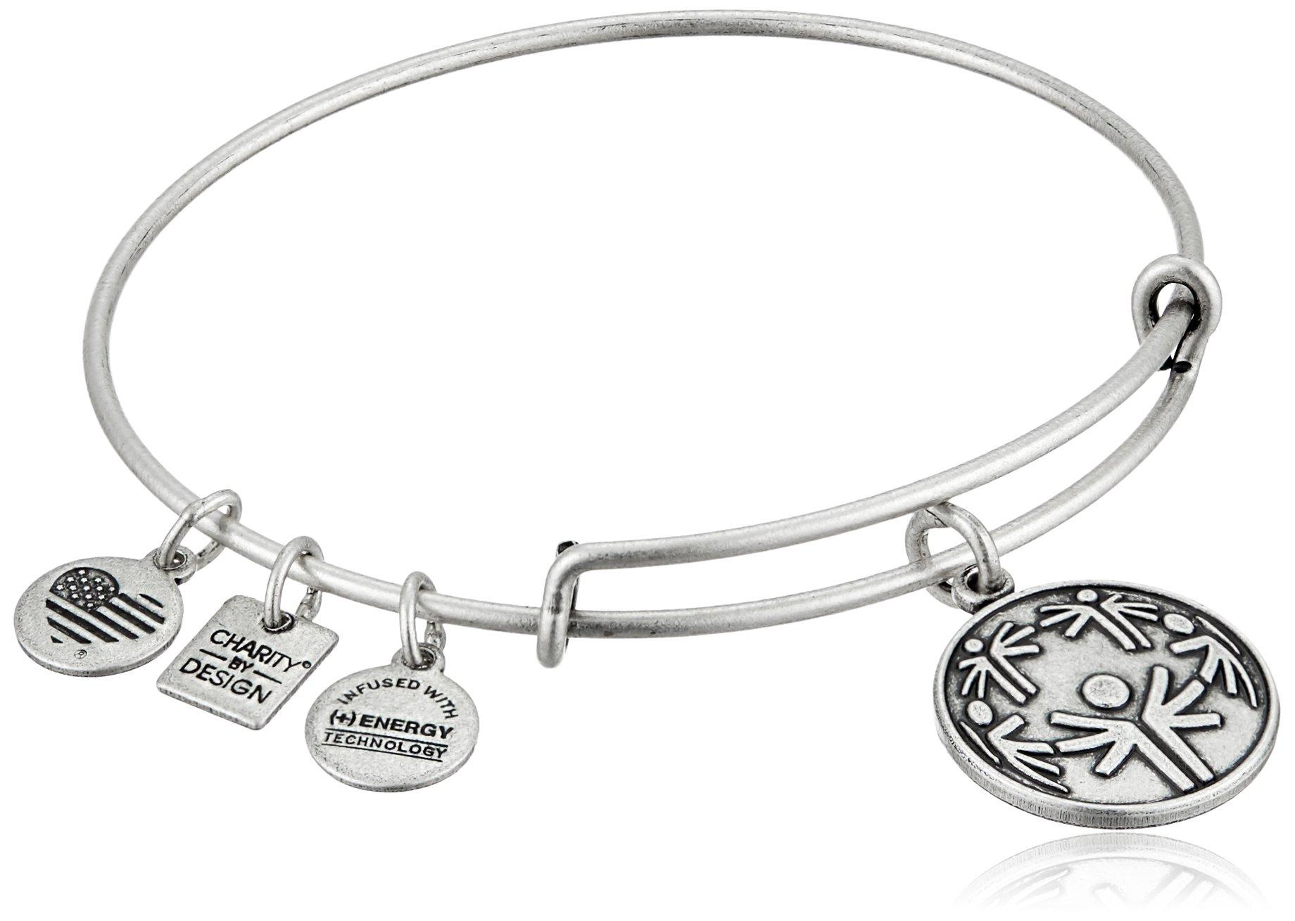 Alex and Ani Charity By Design Power of Unity Rafaelian Silver Bangle Bracelet