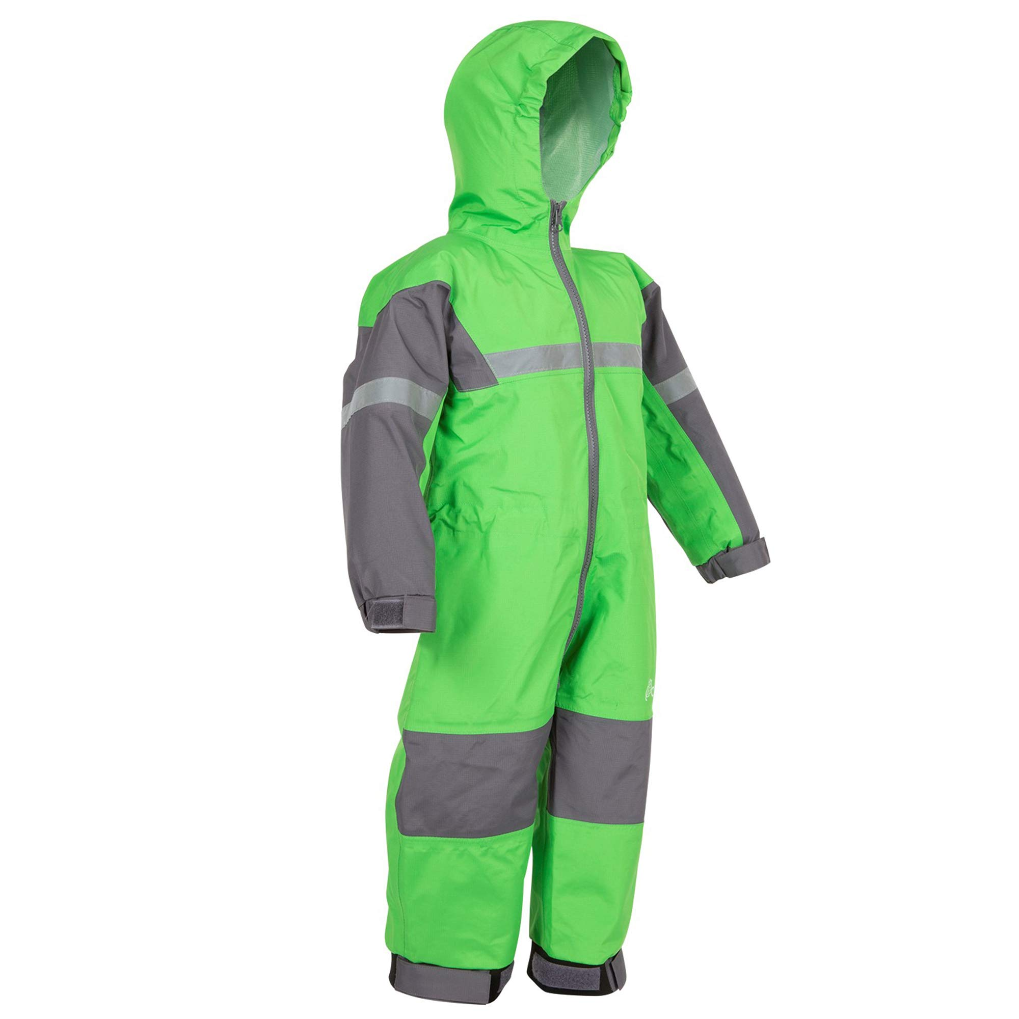 OAKI Rain Suit Kids - Toddler Snowsuit - One Piece Rain Jacket/Pant for Girls & Boys Classic Green, 3T Toddler by OAKI