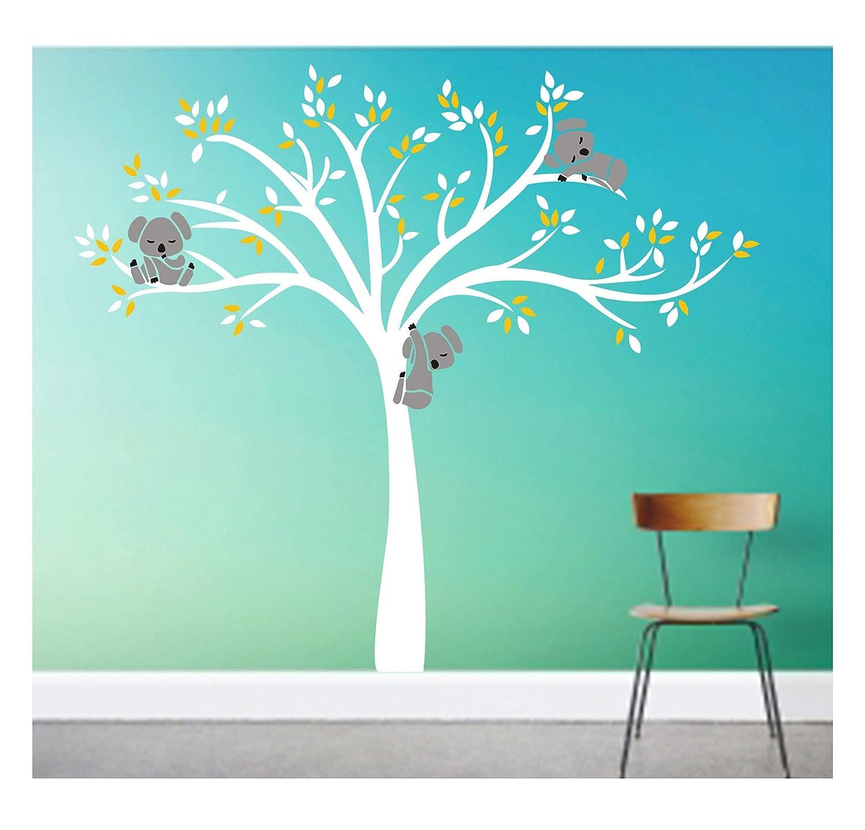 Wall Sticker Koala Bears Tree Decal Personalized Nursery Animal Room Decoration