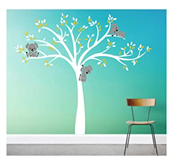 Bdecoll Stickers muraux,Grand Arbre Mignonne Koalas Sticker mural ...