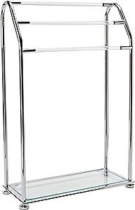 Organize It All 3 Bar Bathroom Towel Drying Rack & Holder with Shelf , Chrome