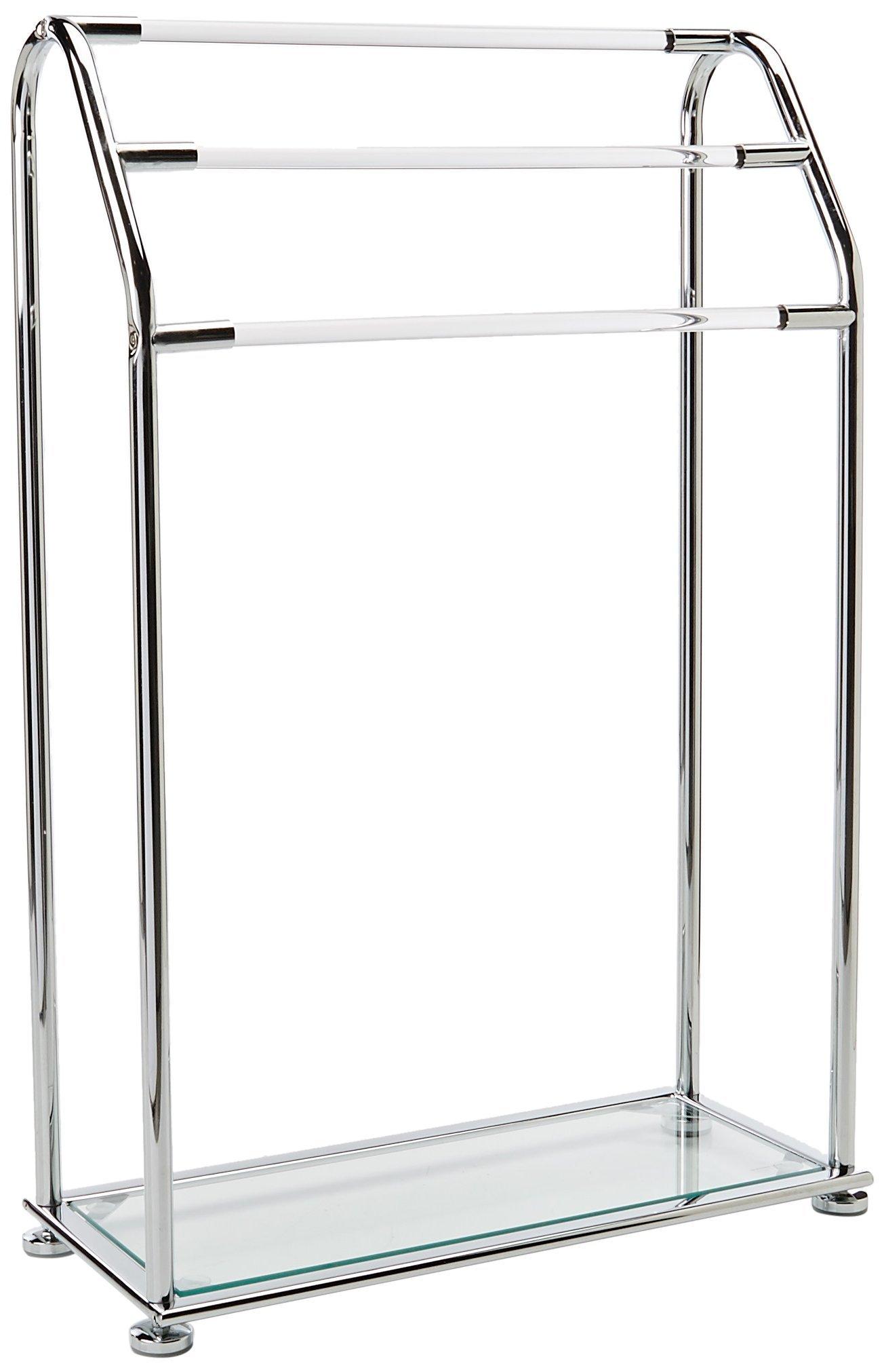Organize It All 3 Bar Bathroom Towel Drying Rack & Holder with Shelf , Chrome by Organize It All