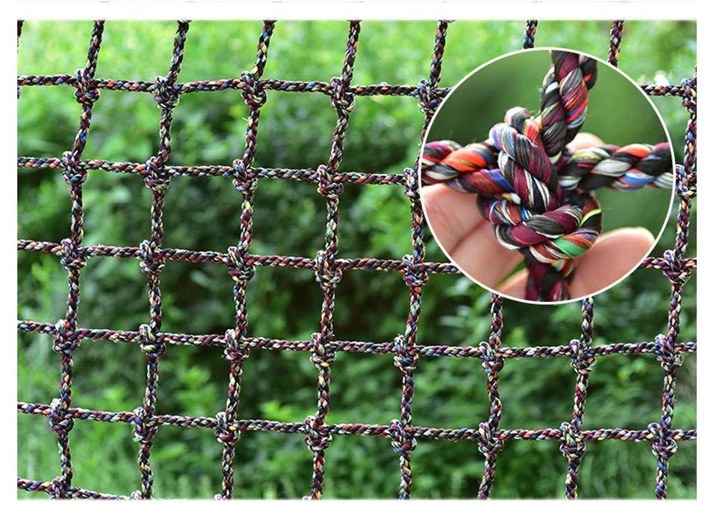 16MM-15CM HNWNJ Filet d'escalade,Filet de Grimper Enfants Corde Prougeection Balcon SéCurité Garde-Corps DéCoration en Jardin Treillis,pour Filet Remorque Benne Camion Escalier Rampe D'Escalier Anti-Chats 22m(6.66.6ft)