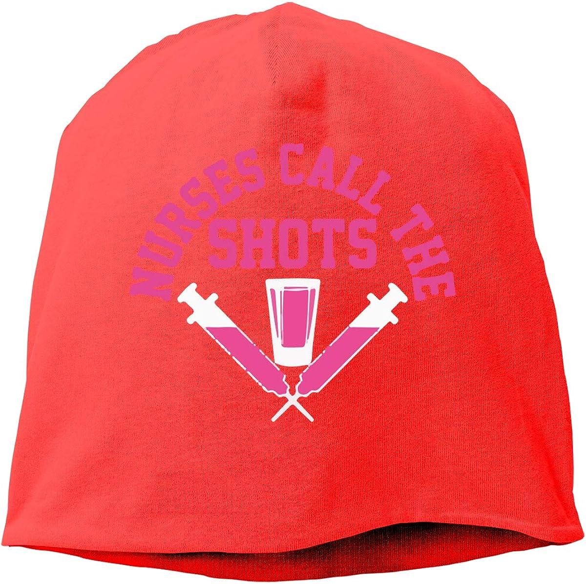 Nurses Call The Shot Beanie Skull Cap for Women and Men Winter Warm Knit Hat