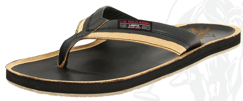 32f2410ed1928b U.S. Polo Assn. Men s Premium Distressed Leatherette Sandals Flip Flop Thong
