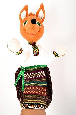 Juguete de tela hecho a mano peluche para ninos bonito regalo original Zorra