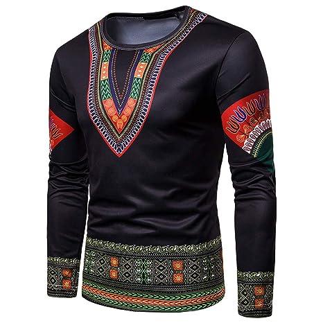 Naturazy SuéTer De Moda Personalizado Carta OtoñAl Impresa Sudadera Casual Outwear Tops Blusa Dashiki O-Neck Estampada Africana 3D OtoñO: Amazon.es: Ropa y ...