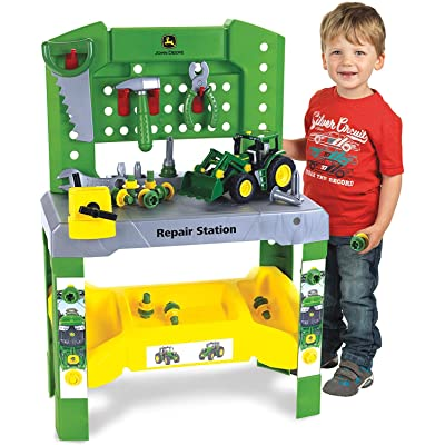 Theo Klein - John Deere Repair Station Premium Toys For Kids Ages 3 Years & Up: Toys & Games