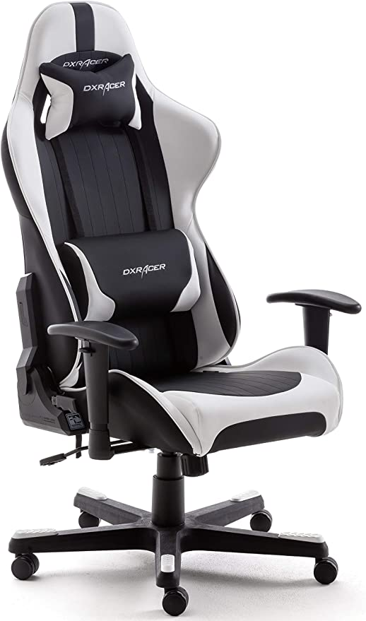 DX Racer 6 62506SW5 - Silla gaming, color negro/blanco, 78 x 52 x 124-134 cm: Amazon.es: Hogar