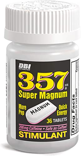 357 HR MAGNUM Super Magnum Stimulant with 200 Milligrams of Caffeine – 36 Count