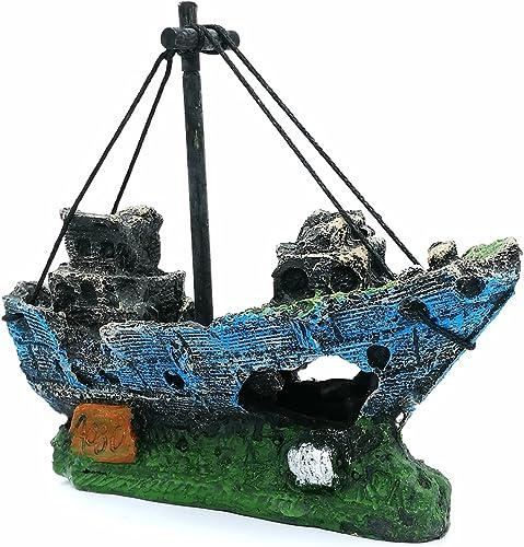 LIAMTU Boat Aquarium Decoration
