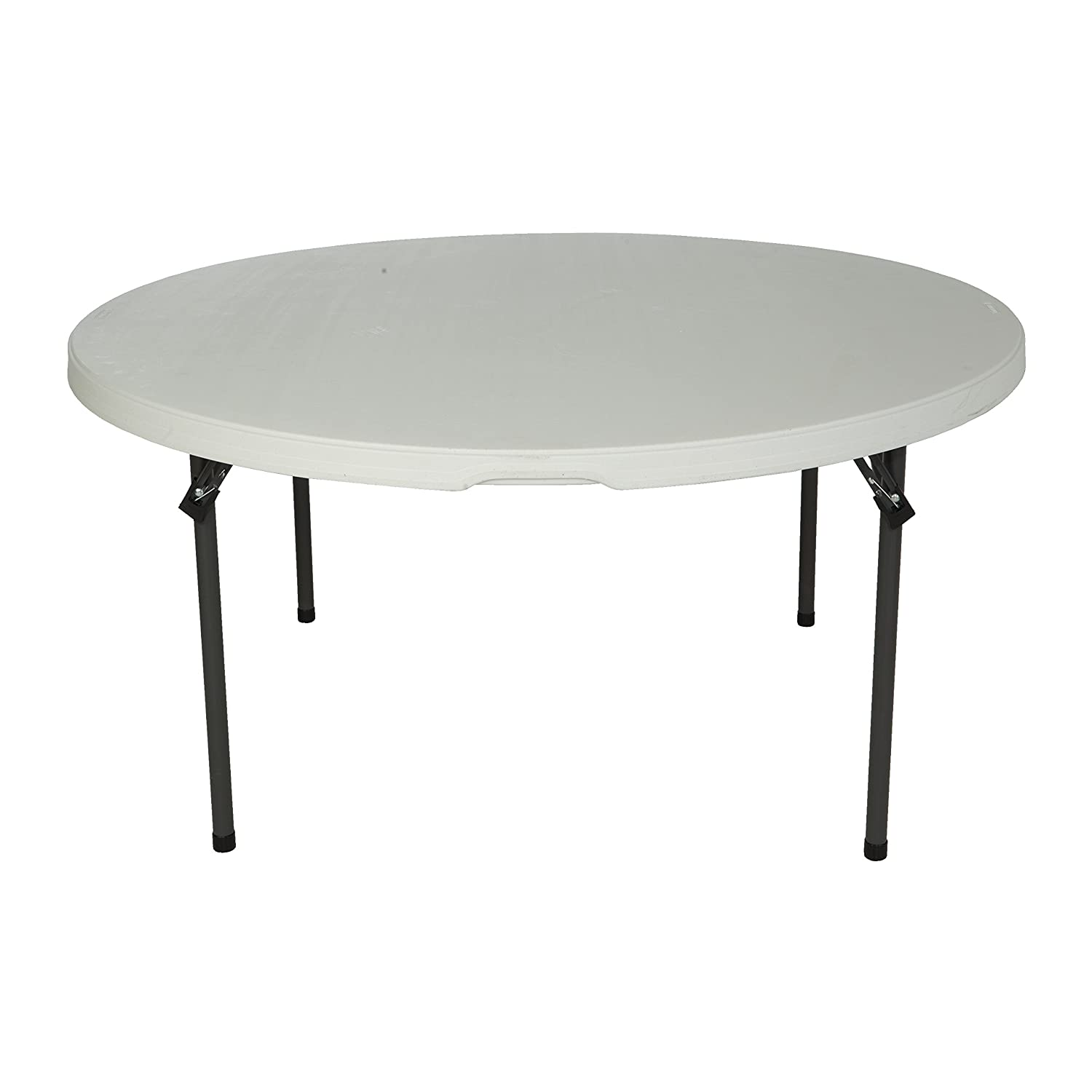 Amazon.com: Lifetime 280435 Commercial Round Folding Table, 5 Feet, Almond:  Kitchen U0026 Dining