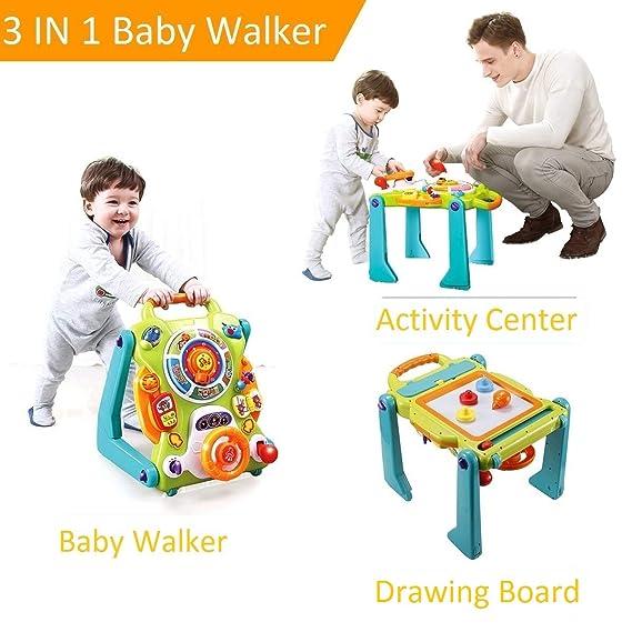 NuoPeng Andador 3 en 1 para bebé Sentado a pie: Amazon.es ...