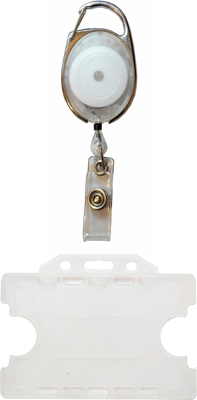 /rosso Customcard mulinello retrattile per badge con porta badge
