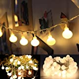 16 Feet 50 LED Globe Fairy Lights, Battery Operated Globe String Lights Starry Lights for Home Party Birthday Garden Festival Wedding Xmas Indoor Outdoor