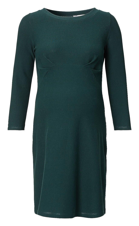 Queen Mum Umstandskleid Stillkleid Wickelkleid Schwangerschaftskleid Kleid zum Stillen Stillfunktion Empire-Design /¾ Arm C-Ausschnitt gr/ün petrol