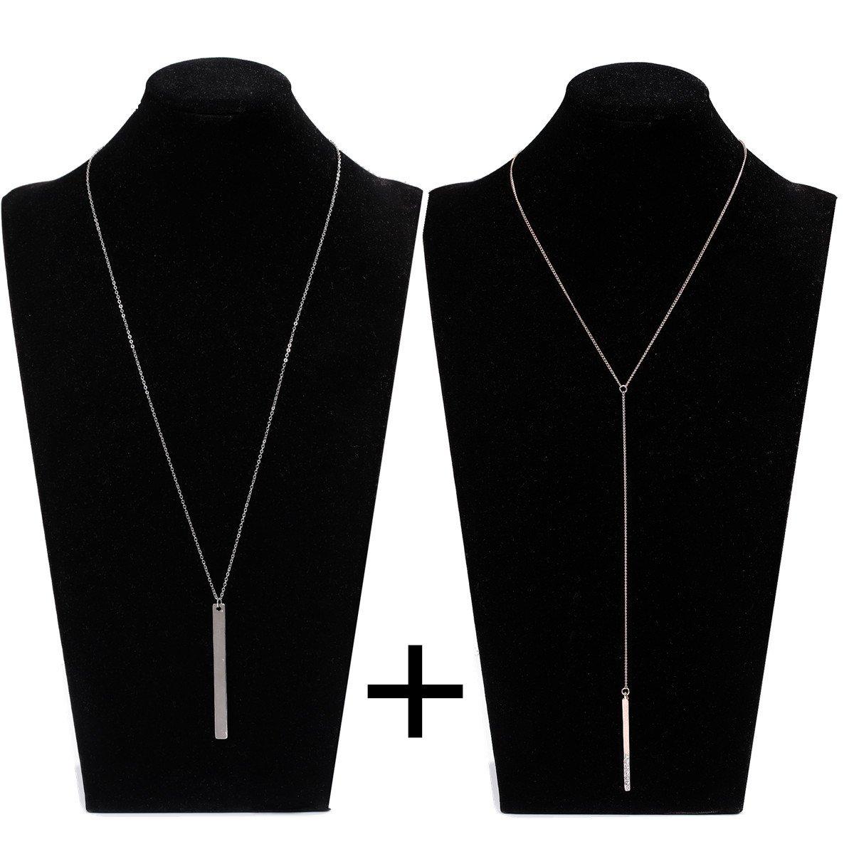 Long Chain Beaded Tassel Necklace - Bar Tassel Drop Sweater Chain Pendant Y Necklaces for Women YOUMI B07DPKDTYL_US