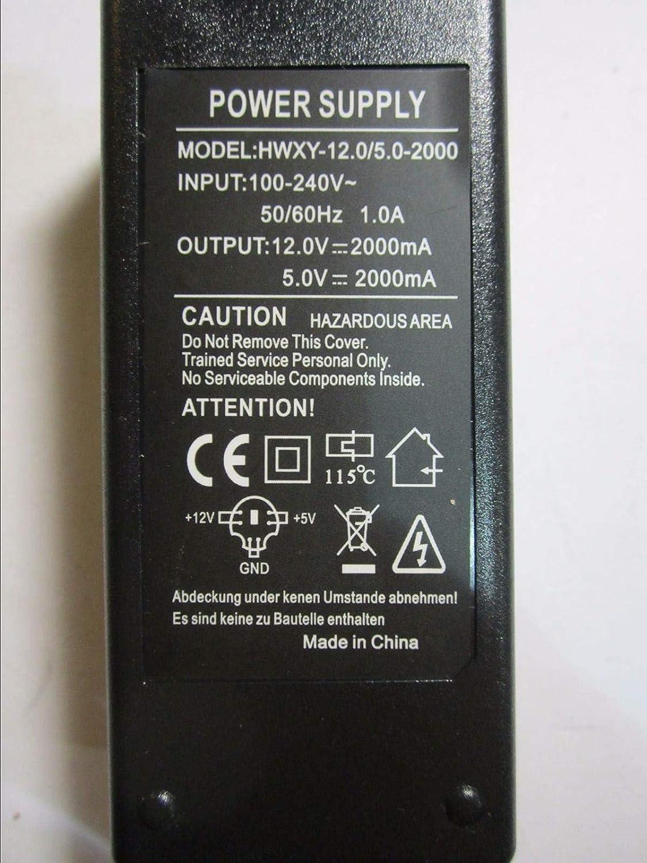 12V 2A 5V 2000mA GND 6 Pin DIN Power Supply Adaptor same as GXP34-12.0//5.0-2000