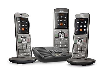 b77f929f146591 Gigaset CL660A Trio - Téléphone fixe sans fil - Répondeur - 3 combinés -  Gris Anthracite