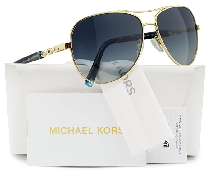 ac0d8a8921dd Image Unavailable. Image not available for. Colour: Michael Kors MK5014 Sabina  III Sunglasses Gold w/Blue Gradient ...