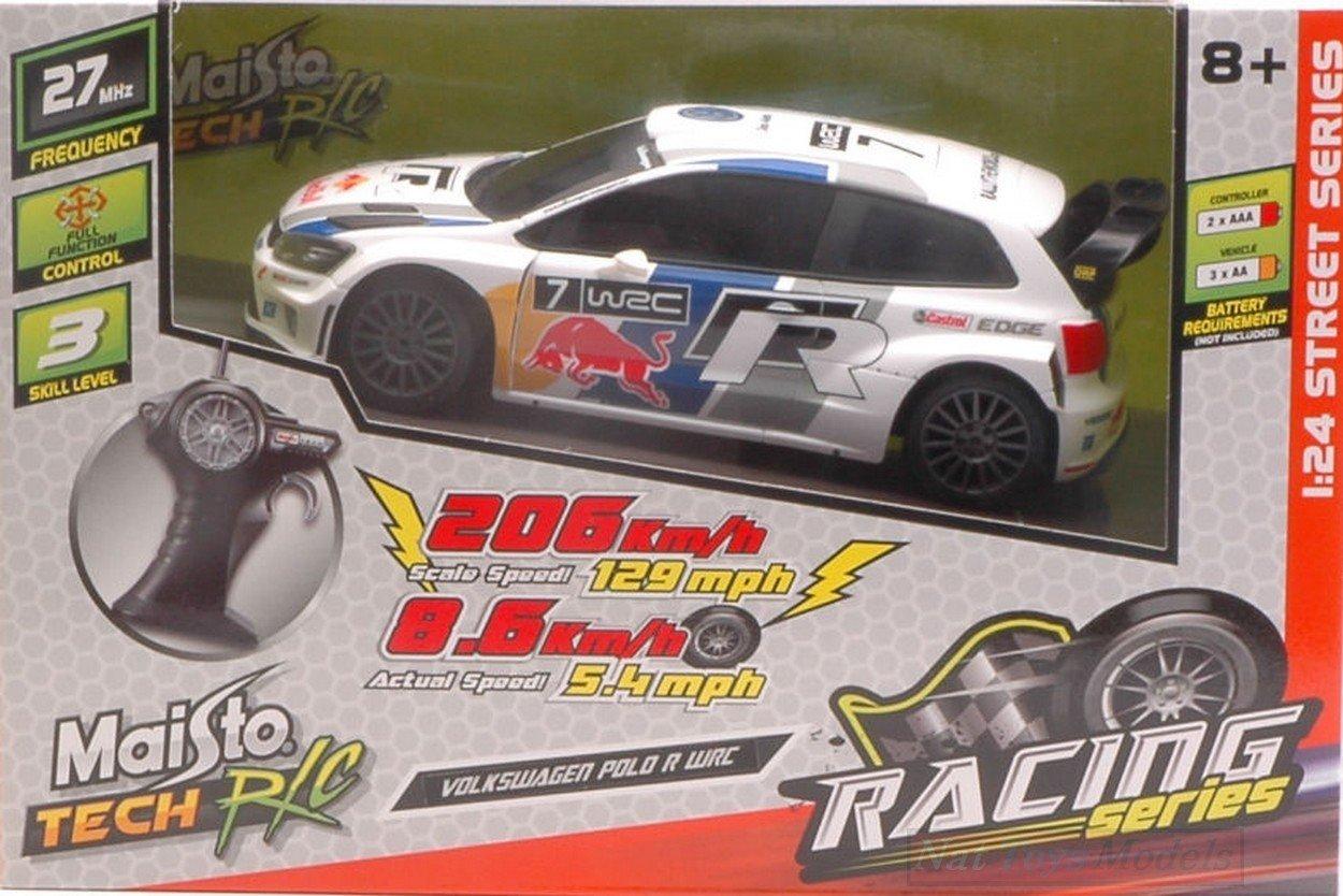 MAISTO MI81140V VW POLO R WRC N.7 RED BULL RADIOCOMANDO 1:24 ...