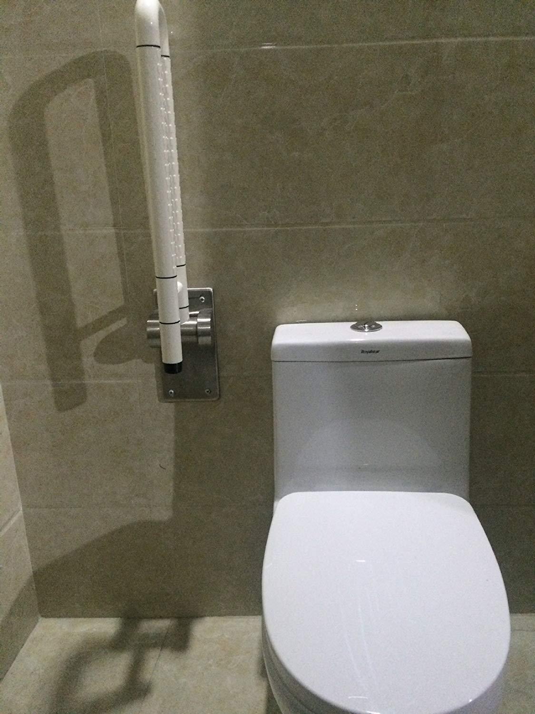 ACHKL Disabled/Elderly Antimicrobial Toilet Nylon handrails Barrier-Free Toilet Bathroom Bathtub Safety Rails White (Color : Yellow)