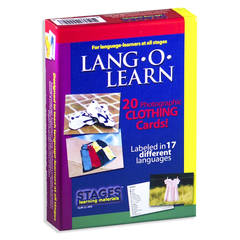 Lang-O-Learn Multilingual P caliente o Cards: 20 Card Clothing Set by Stages Learning Materials