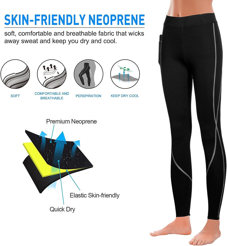 Irisnaya Compression Slim Leggings for Women Sauna Sweat Pants High Waist Training Butt Lifter Tights Workout Body Shaper