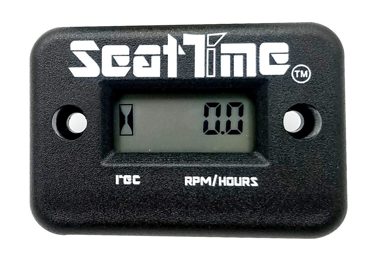 Seat Time Waterproof Inductive Hour Meter/Tachometer For 4 Stroke Dirt Bike ATV Enduro Dual Sport Motorcycle Maintenance RPM- Black by Seat Time