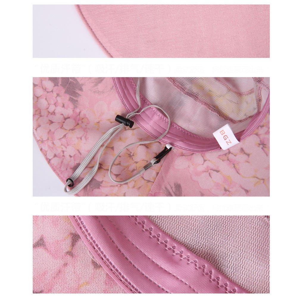 GHMM Sombrilla Sombrero Mujer Verano Gran Rollo Flor Protección UV Sombrero  de la Visera Sombrero de e5b76d2b705a