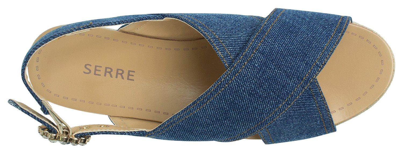 AnnaKastle Womens CrissCross Espadrille Platform Slingback Sandal B072N8B729 6.5 B(M) US|Denimblue