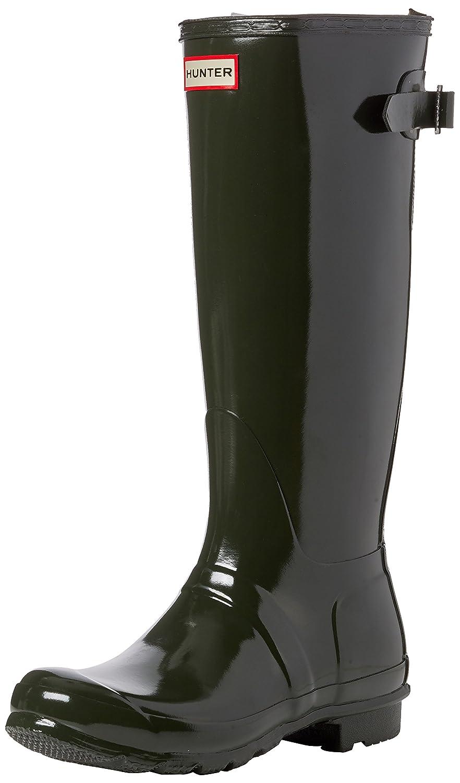 Hunter Womens Original Back Adjustable Gloss B01M0CJ0FW 5 B(M) US|Dark Olive
