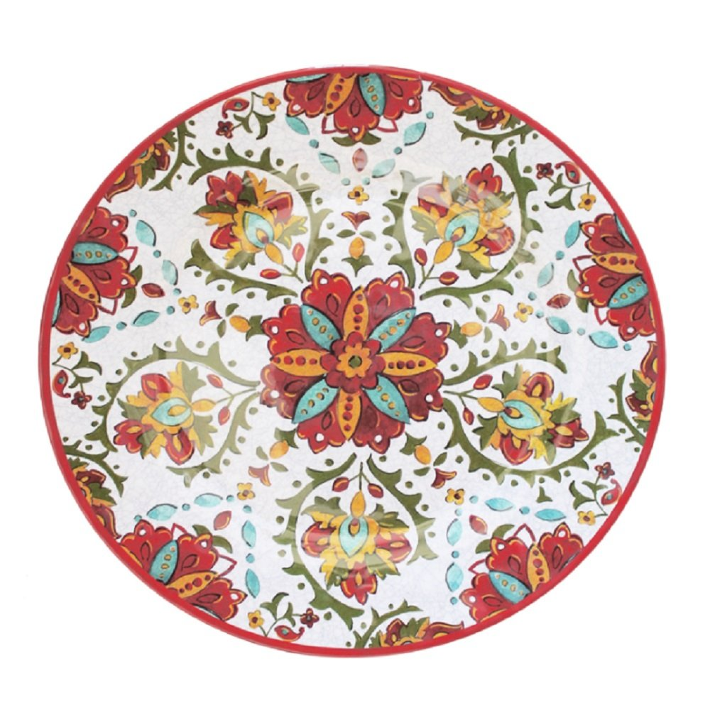 Le Cadeaux 276ALGR Allegra 16 Family Style Oval Platter Red