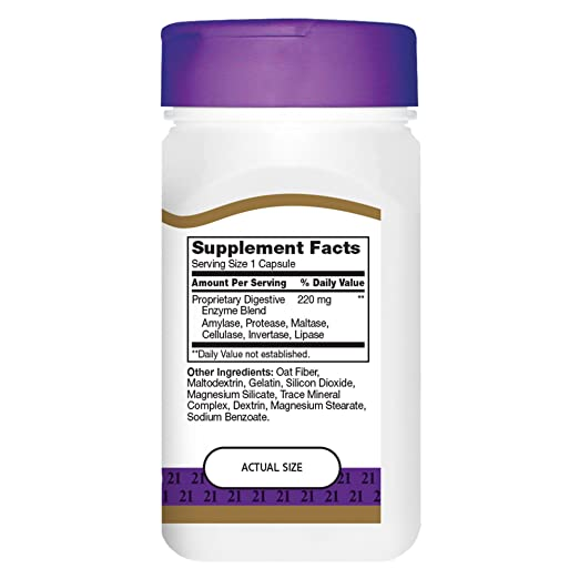 Amazon.com: Siglo XXI las enzimas digestivas Cápsulas, 60 ...