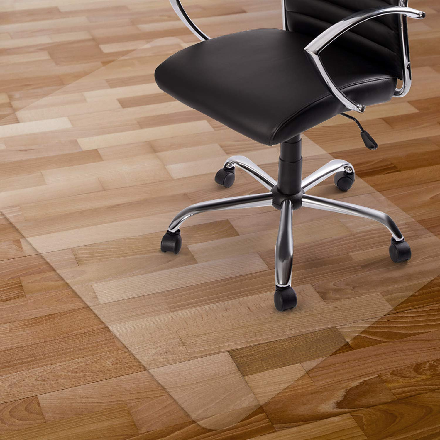 Kuyal Clear Chair Mat, Hard Floor Use, 30'' x 48'' Transparent Office Home Floor Protector mat Chairmats by Kuyal
