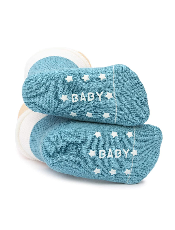 Adorel Baby Jungen Socken Anti-Rutsch Warm Pl/üsch 6er-Pack