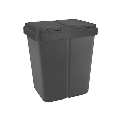 Zweimer Duo Müllbehälter Mit Deckel Kunststoff Mülleimer Für Die