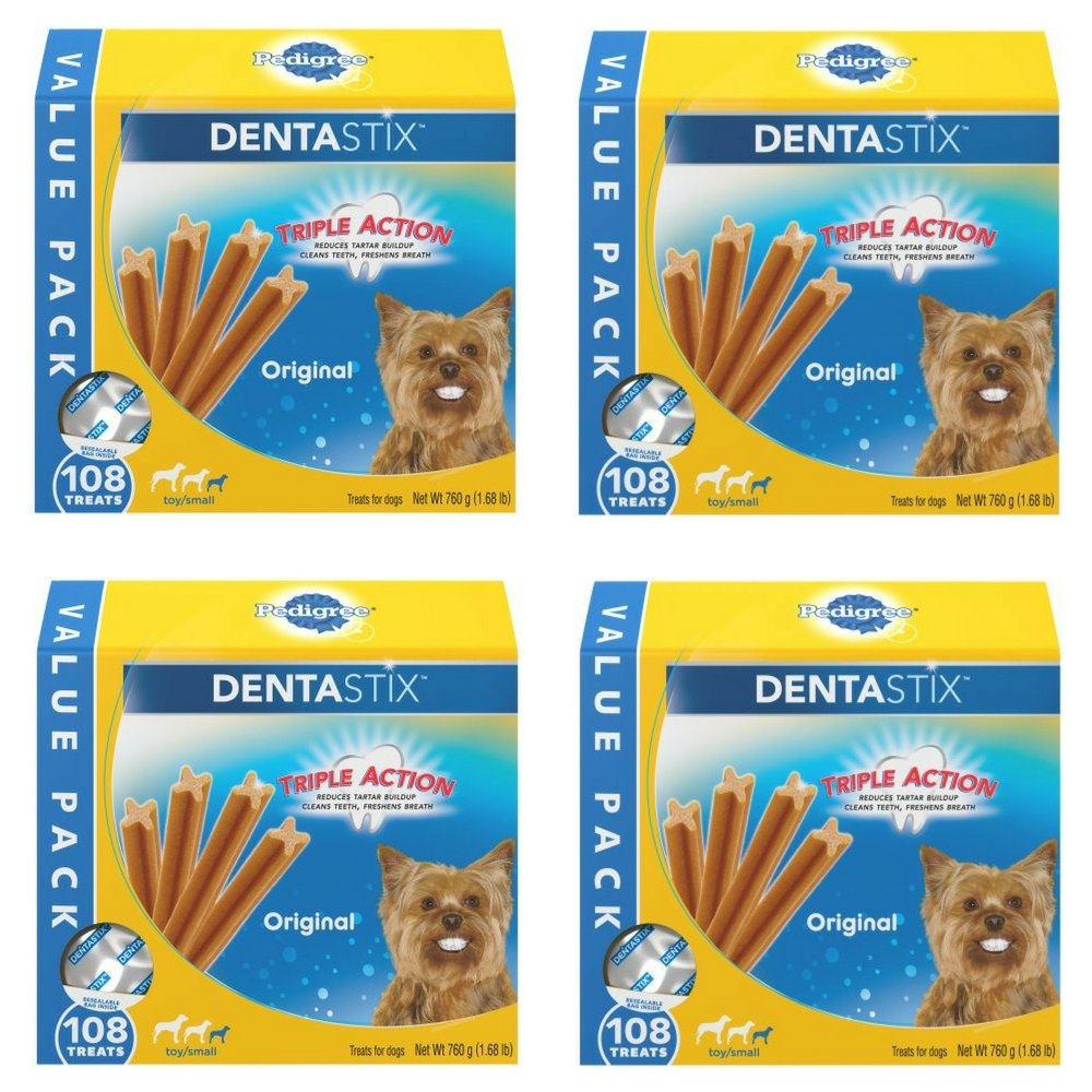 PEDIGREE DENTASTIX Original Toy/Small Treats for Dogs 1.68 Pounds by Pedigree Dry Food (4 pack)