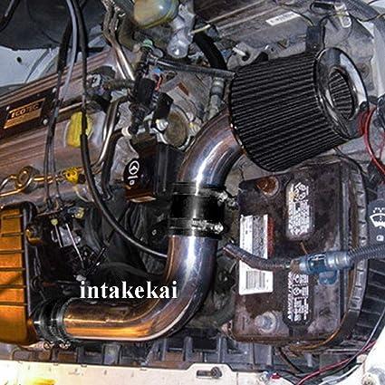 RED  AIR INTAKE KIT FIT 2003 2004 SATURN ION 1 2 3 2.2 2.2L ECOTEC