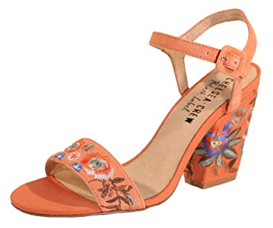 fashionable patterns search for best durable in use Amazon.com   Chelsea Crew Feisty Embroidered Sandals, Coral ...