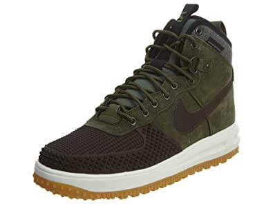 fa77c439e597 Nike Men s Lunar Force 1 Duckboot Boot Baroque Brown Black Army Olive 12  D(M) US  Buy Online at Low Prices in India - Amazon.in