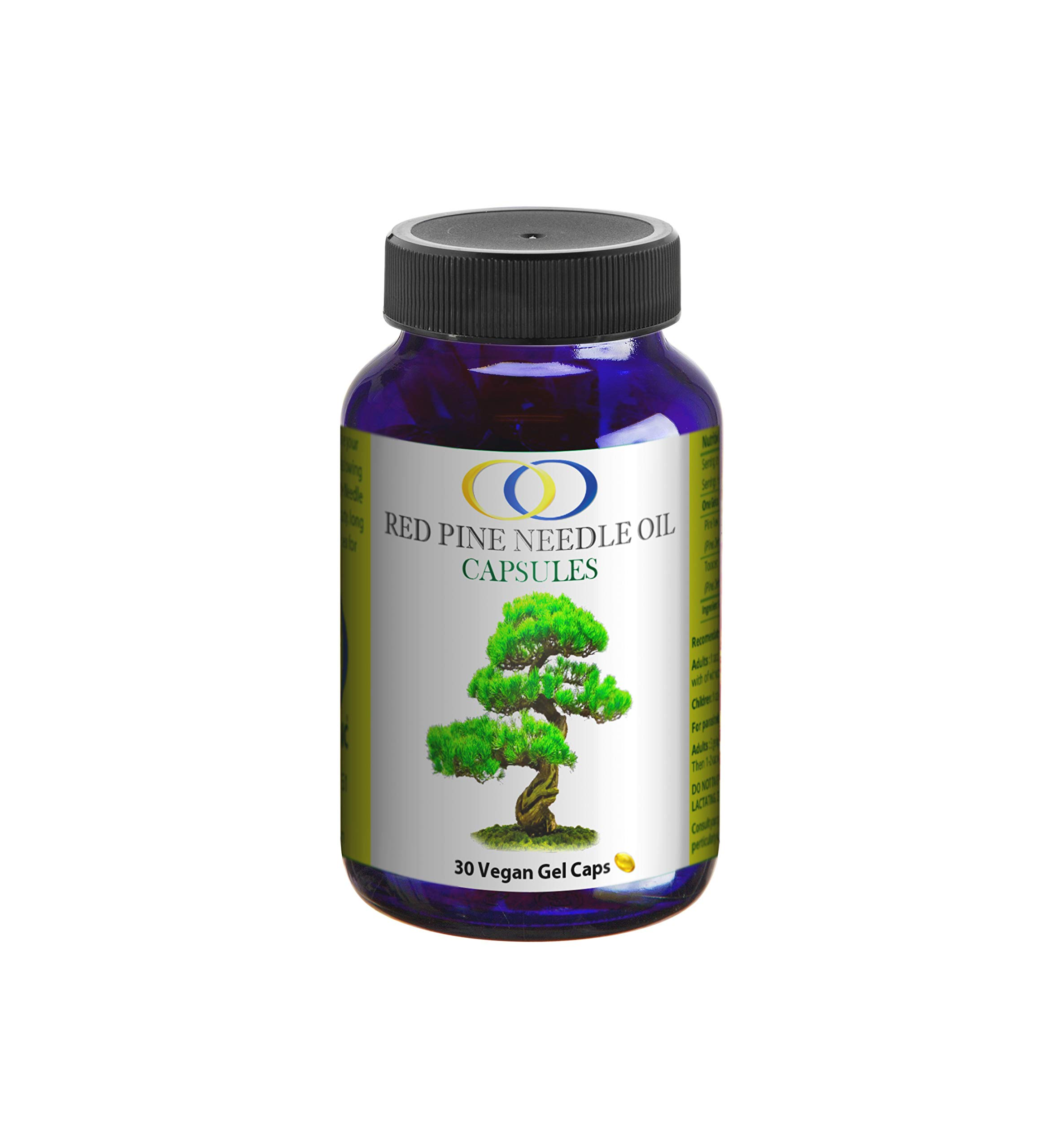 Optimally Organic Korean Red Pine Needle Oil Capsules - Powerful Immune System Booster - Anti Aging Properties - Wild Crafted, Non GMO - Pure, Bioactive, Vegan Beauty Treatment - 30 Capsules