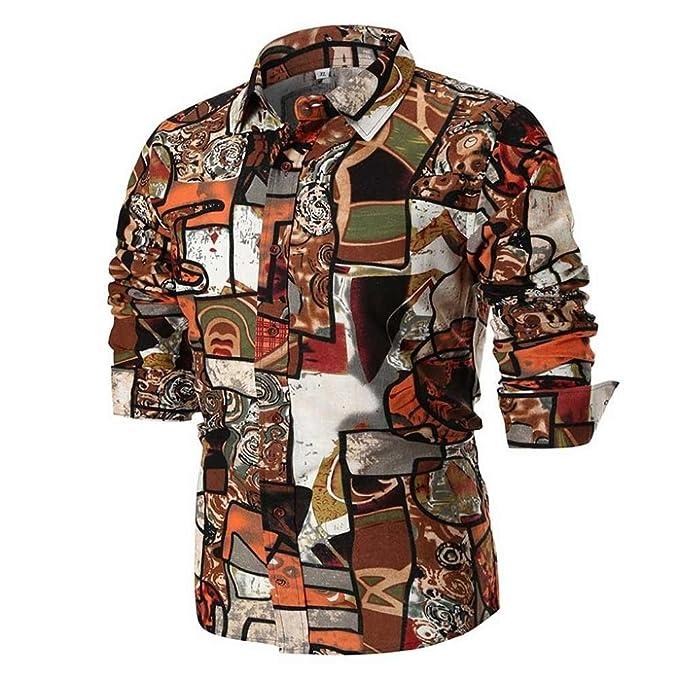 VENMO Sudaderas Camisas Vestir Casual Hombre,Camisetas Hombre,👔Camisa de Manga Larga Slim Hombre Casual Tops Blusas por Venmo: Amazon.es: Ropa y accesorios