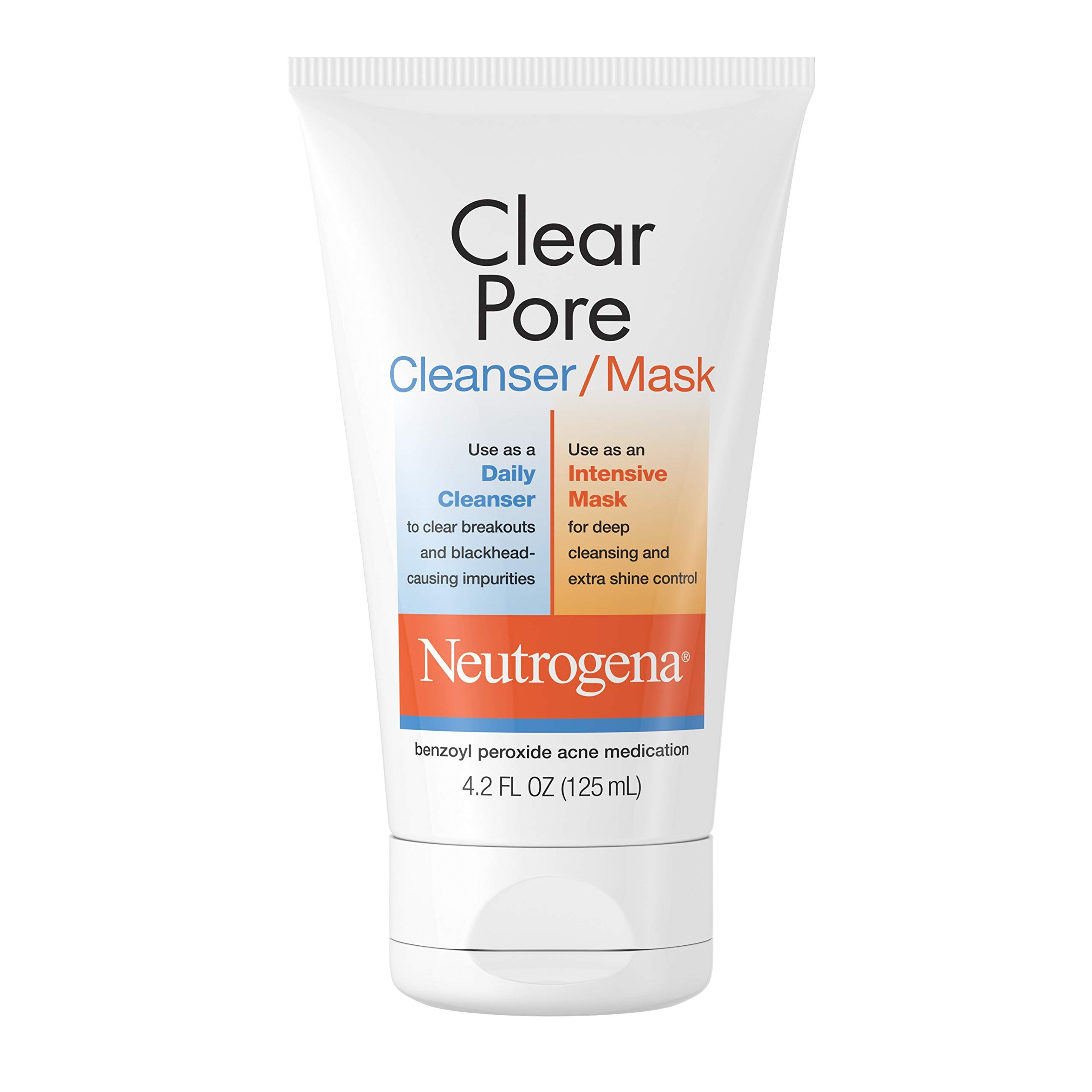 Neutrogena Clear Pore 2 in 1 Facial Cleanser/Face Mask, 4.2 fl. oz (Pack of 6)